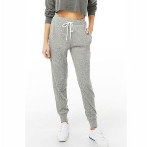 NEW Forever 21 Active Ribbed Joggers Charcoal